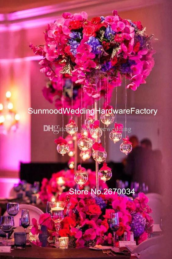 Zihinsel stand sadece) lattest metal kaide için standları çiçekler / metal zemin vazo standı / trompet metal geçit düğün için duruyor