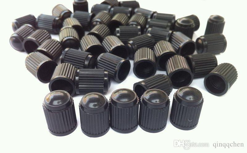1000pcs/lot Black Plastic Caps Tyre Dust Valve Air Valve Caps Fit For Bike Motorcycle Car Wheel Tyre Air Valve Stem Caps