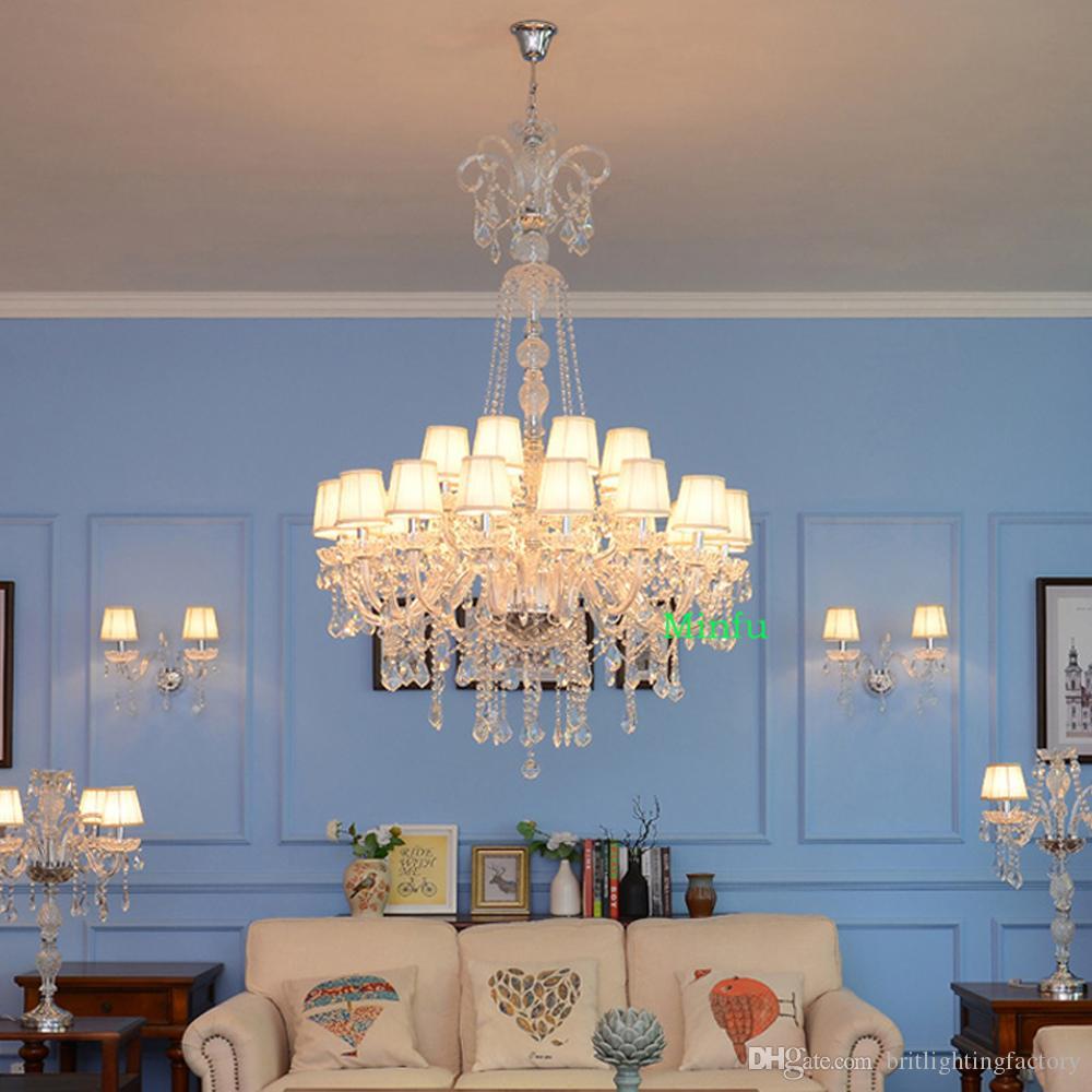 moderno lampadario di cristallo di luce lampadari di cristallo lunga lampada da comodino per lampadari soggiorno ha portato a casa la lampada lampadario illuminazione luci Scale