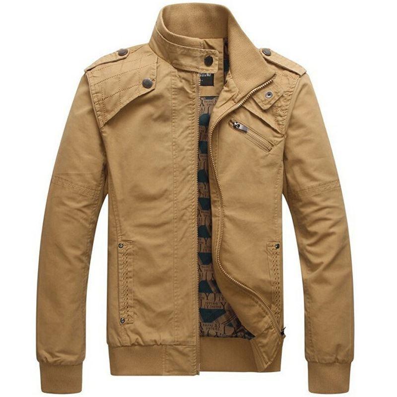 Куртка Мужская повседневная куртка из хлопчатобумажной ткани Армейская военная мужская стойка с воротником Верхняя одежда jaqueta masculina Пальто парка
