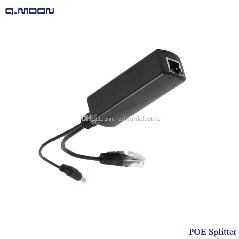 IEEE802.3AF Standard 12V 2A Output 10/100M PoE Splitter lan Connector Power Ethernet for IP Camera