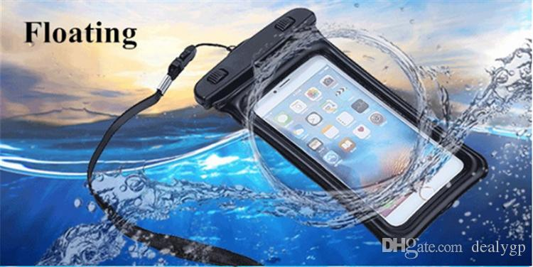 Waterproof Case Swimming Clear Cell Phone Dry Bag Pouch with Neck Strap for Samsung Galaxy s7 edge