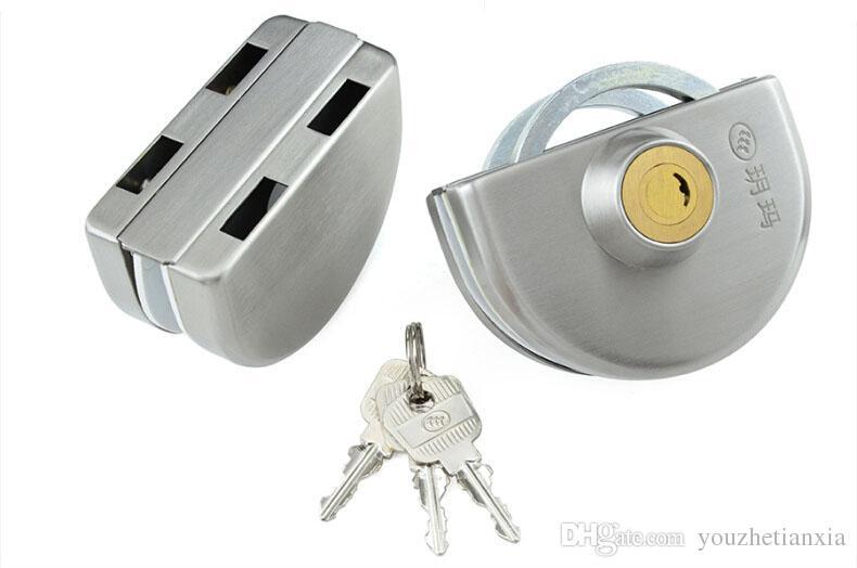 Glas Türschloss Sicherheitsschloss Haus Ornament Tür Hardware Lock 304 Edelstahl Anti-Diebstahl-Schlösser