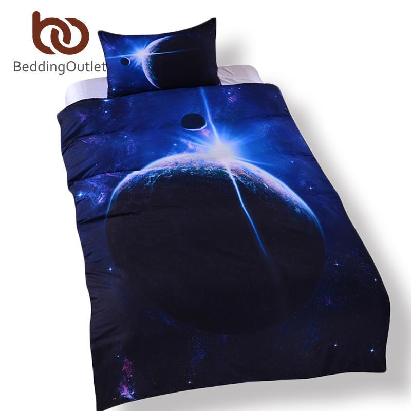 Vente en gros BeddingOutlet Galaxy Set Terre Moon Print magnifique Design Unique Quanlity Limited espace extérieur housse de couette