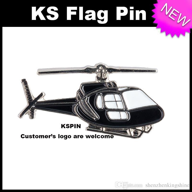 Distintivo 10pcs del distintivo del metallo di Hilicopter molto trasporto libero XY0071