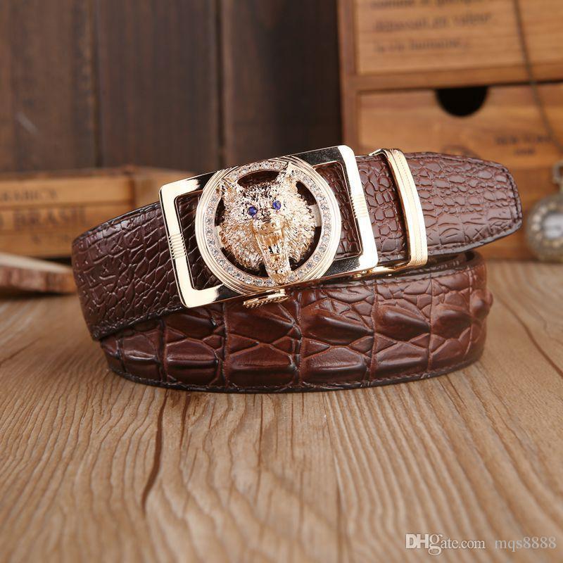 Mens fashion Belt New Designer Automatic Buckle 100% Cowhide Leather men belt 110cm-125cm Luxury belts for male free shipping