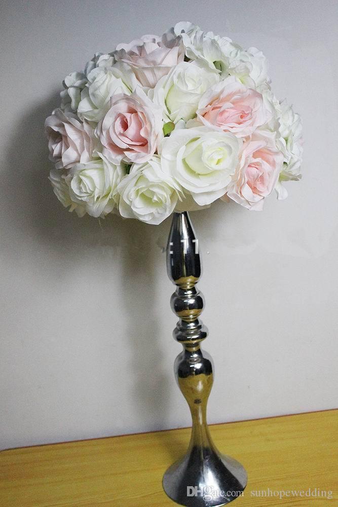 Metal dekoratif düğün şamdan sahibi