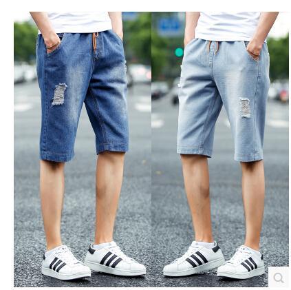 2017 Wholesale Men Jeans 2017 Summer Casual Men Jeans Shorts Hole ...