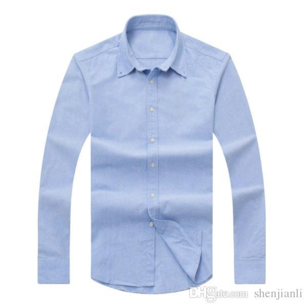 2017 neue Herbst und Winter Männer langärmeligen Baumwollhemd reine Männer Casual POLOshirt Mode Oxford Shirt soziale Marke Kleidung Lar