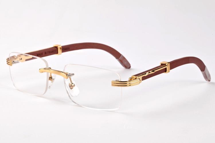 frete grátis 2020 óculos de sol novos de moda para óculos de sol de madeira buzina mulheres homens esportes clássico búfalo com caixas originais óculos Óculos de