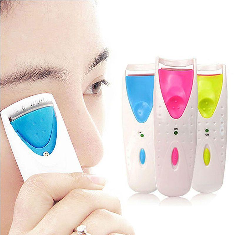 Eléctrico automático de temperatura constante de larga duración con pestañas calentadas pestañas rizador Clip herramienta belleza maquillaje rizador de pestañas