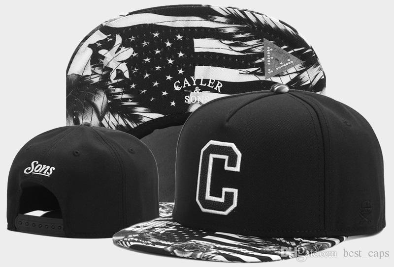 Sıcak satmak yeni geldi Cayler Sons Şapka Popüler moda erkek kadın Caps Ayarlanabilir boyutu şapka özelleştirilmiş şapka 1000 + stilleri şapka ücre ...