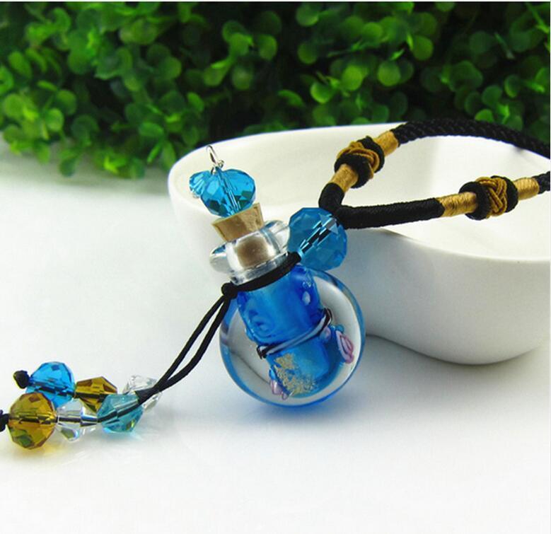 Cam uçucu yağ difüzörü madalyon kolye çiçekler küçük flakon kolye aromaterapi kolye vintage parfüm şişesi kolye kolyeler