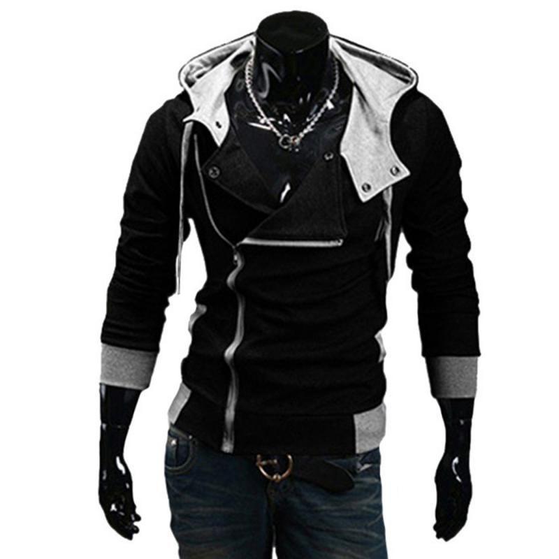 Al por mayor Moda 2016 sudaderas con capucha cremallera chaqueta de chándal informal chaqueta con capucha moleton Escudo Assassins Creed paño grueso y suave delgado