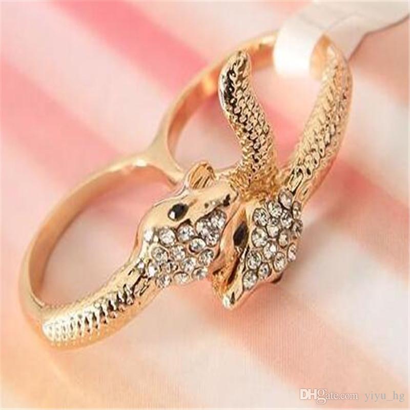 Min.order est de 15 $ (ordre de mélange) -Exagéré personnalité anneau serpent anneau-J148