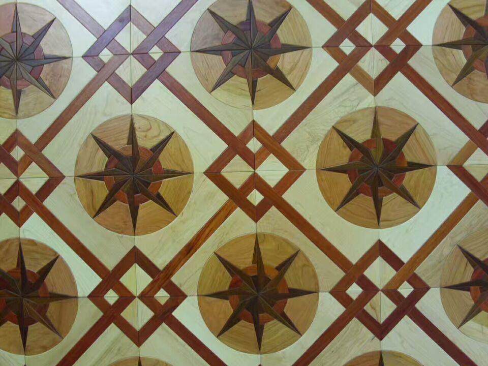 Maple househo laminate flooring living room decor wax wood hardwood floor Russia solid wood art and craft House staff Furniture cover