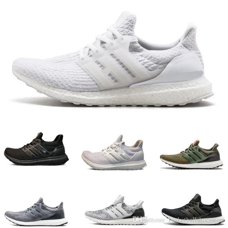 Yüksek Kalite Ultra 3.0 4.0 Koşu Ayakkabıları Erkek Kadın Ultra Çizmeler Primeknit Beyaz Siyah Spor Sneakers eğitmenler 36-45