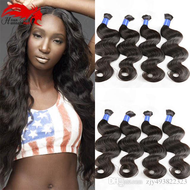 한나 제품 브라질 대량 인간의 머리카락 웨이브 벌크 머리카락 없음 첨부 파일 없음 3pcs 처리되지 않은 인간의 머리카락