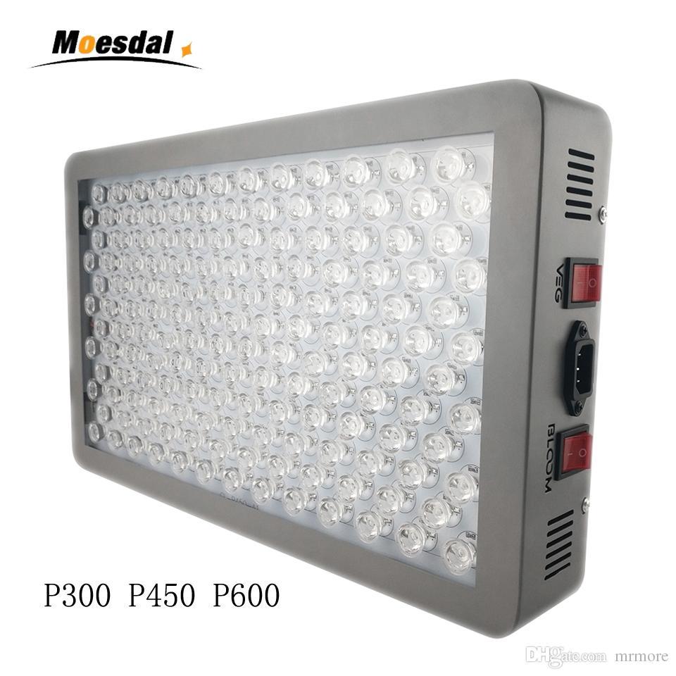 ضوء طبي مصنع P300 P450 P600w LED ينمو ضوء 12 باند الطيف الكامل للنباتات الداخلية الخضار والتحكم بلوم مع عدسة زجاجية بصرية