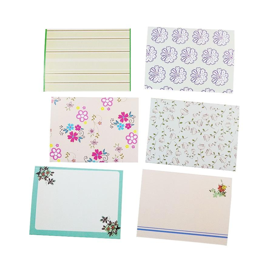 6 Pcs Lot Fresh Floral Folding Greeting Card Mini Envelope Design Writing Paper DIY Wedding Party Invitations Supply