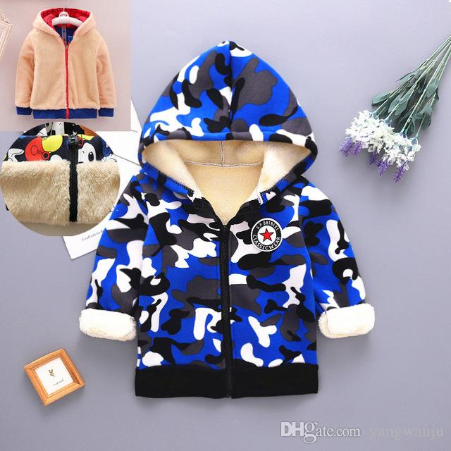 baby boys coats jackets fashion style 2018 infant kids camouglage hoodies outerwear for toddle cotton winter jackets