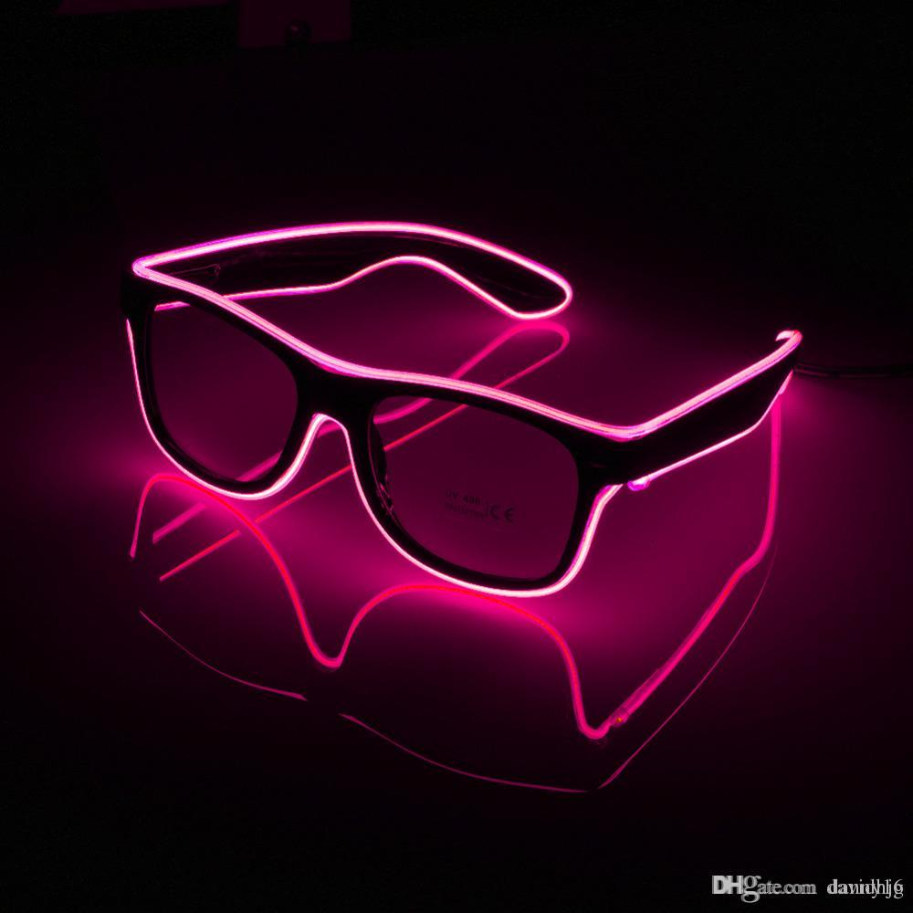Flashing EL Wire Led Glasses Luminous Party Decorative Lighting Classic Gift Bright LED Light Up Party Glasses Party Decor