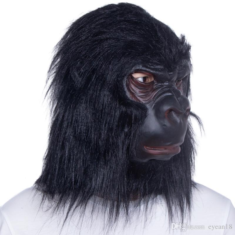 Animal Adulto Chimpanzé / Macaco / Máscara de Macaco Máscara de Látex Fancy Dress Halloween Prop Máscara de Macaco