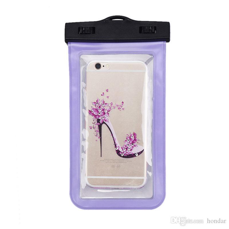 Para s6 s6 borda à prova d 'água saco à prova d' água case bag pvc protetora universal phone case saco de natação bolsa de celular de primavera quente