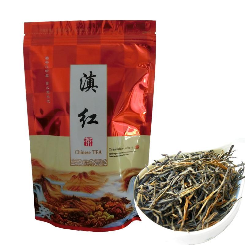 Tercih 250g Çin Organik Siyah Çay Yunnan Klasik 58 Serisi Dianhong Kırmızı Çay Sağlık Yeni Pişmiş Çay Yeşil Gıda