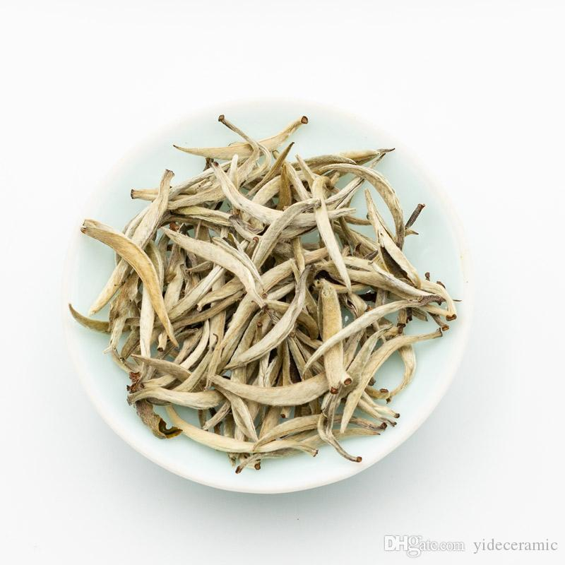 Bai Hao Yin Zhen Silver Needle White Tea, Chinese White Tea Loose Leaf Baihao Yinzhen, High Mountain Tea Baihaoyinzhen