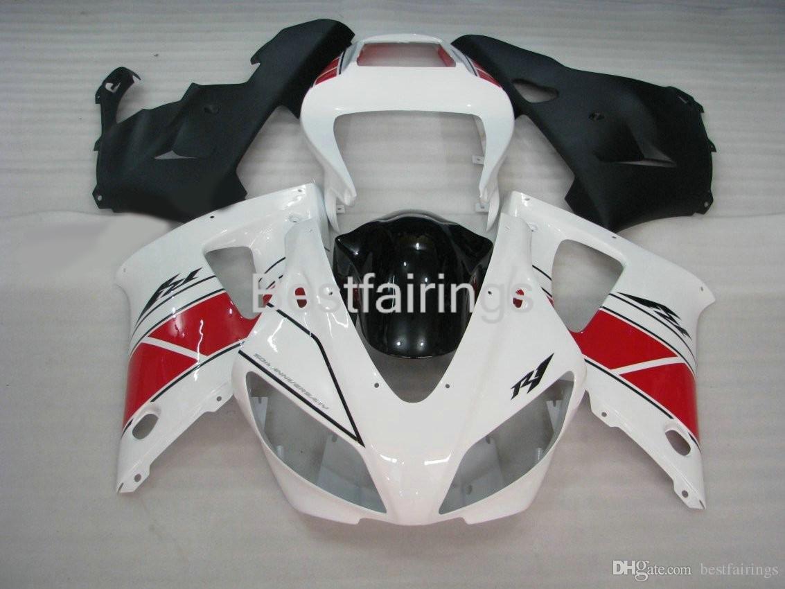 7gifts fairing kit for YAMAHA R1 1998 1999 red white black fairings YZF R1 98 99 CQ23