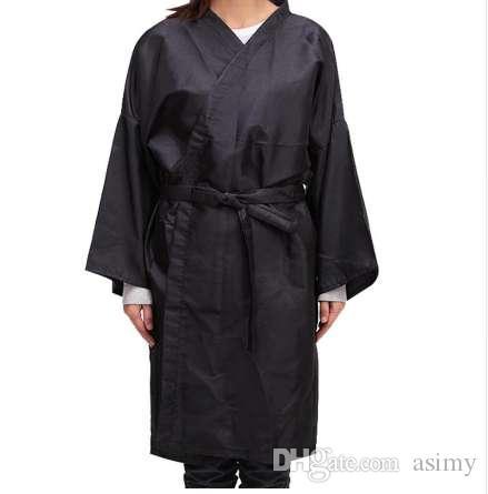 Стрижка волос Водонепроницаемый Кимоно Ткань Салон Парикмахерская Платье Мыс Парикмахер 0511 челнока