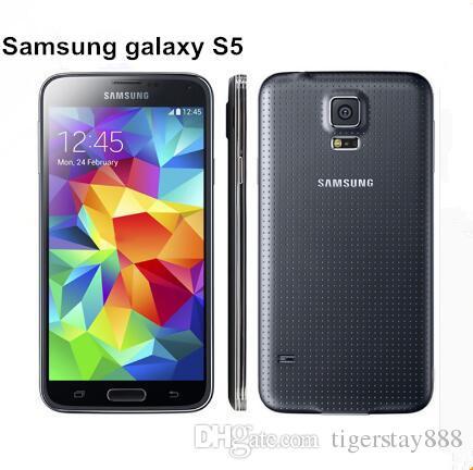 الأصلي سامسونج S5 I9600 الأصلي مقفلة غالاكسي S5 I9600 G900A G900F G900H 16MP رباعية النواة GPS WIFI تجديد الهاتف المحمول