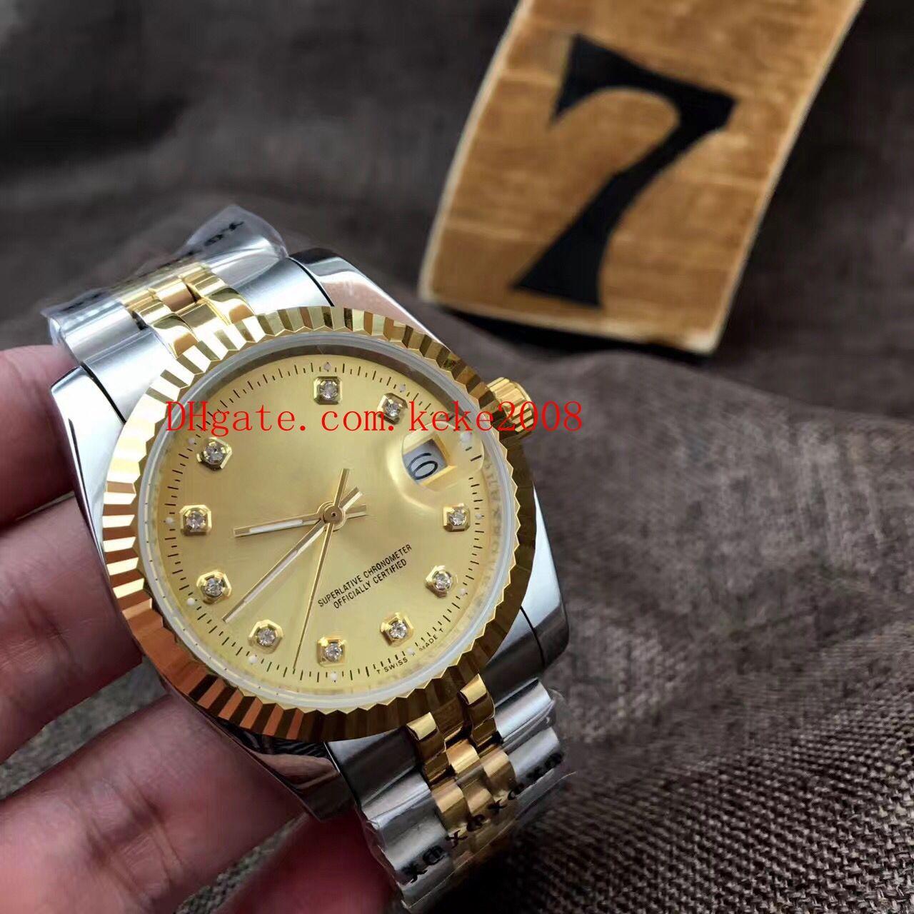 Relógio de luxo 36 milímetros 41 milímetros Datejust 116233 Data Presidente ouro 18K Diamond Dial Relógios Asia 2813 Movimento mecânico do homem Automatic