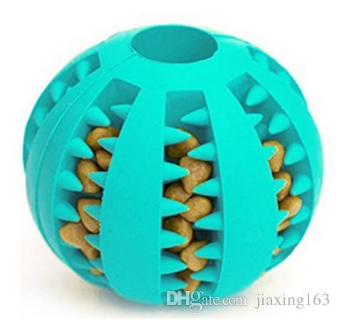 Pet المطاط تسرب الغذاء الكرة الكلب القط مضغ لعبة التفاعلية مرونة البطيخ دغة مقاومة الكلب الأسنان نظيفة لعب الكرة 7 سنتيمتر
