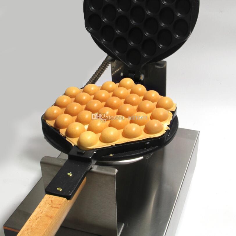 NEW Commercial Hong Kong Egg Waffle Iron Maker Machine Eggettes Puff Cake