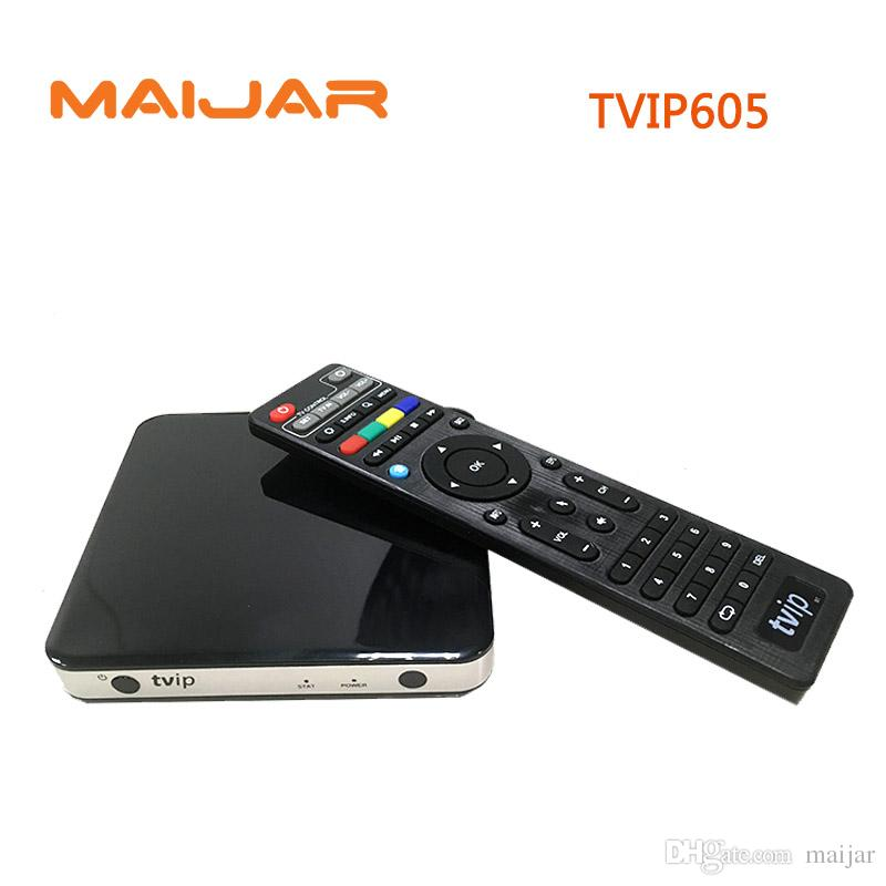 TVIP 605 Smart TV Box Linux OS Support Quad Core TVIP605 Super Clear Double System Linux or Android OS Set Top Box