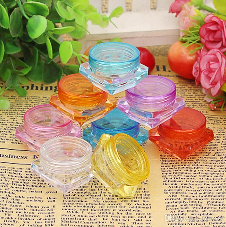 8 Colors High Quality Mixed colors Cosmetic Empty Jar Pot Eyeshadow Makeup Face Cream Container 2g/3g/5g free shipping