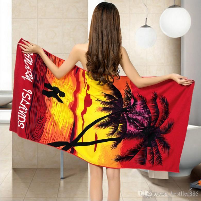 100% DHL Material gratuito Microfibra Sexy tamaño grande de la playa 100x180cm Towel Tedgx