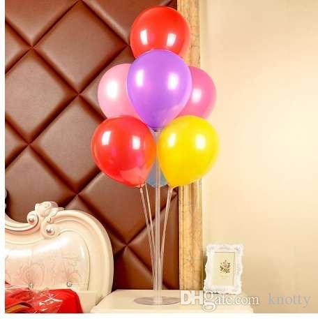 بالون عصا DIY الزفاف الديكور بالونات اللاتكس الجدول العائمة بالون دعم قضيب بالون