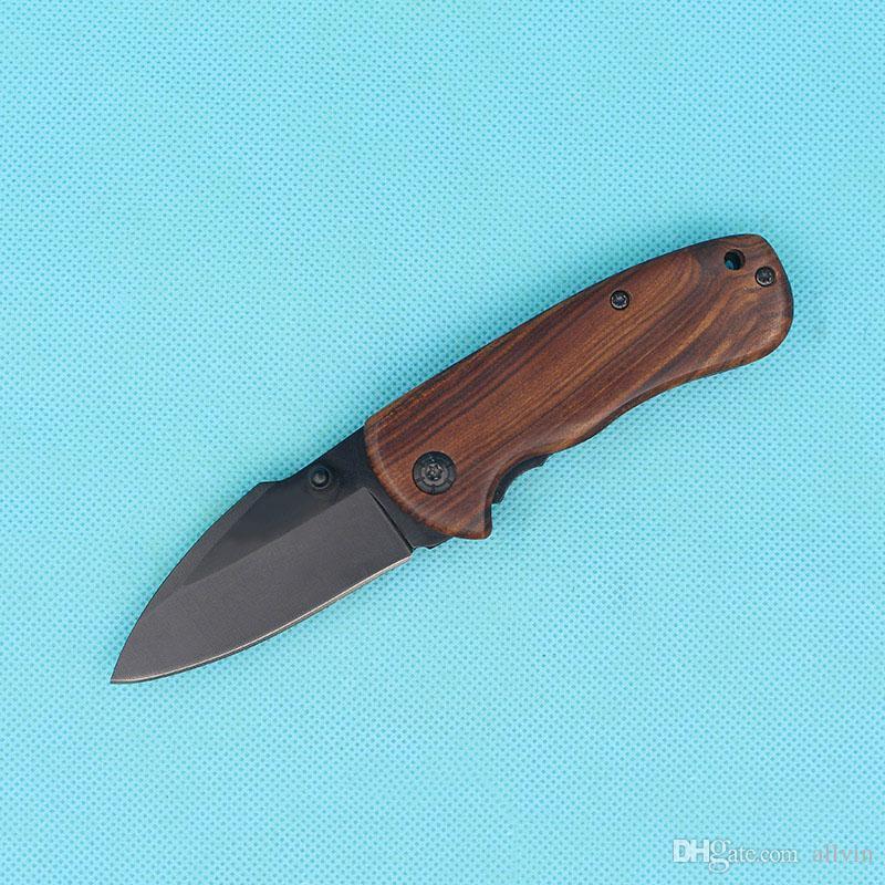 Najwyższa jakość BK DA66 Kaczek Kieszonkowy Składany Nóż EDC Poket Noże Drewniane uchwyt z oryginalnym pudełkiem papieru