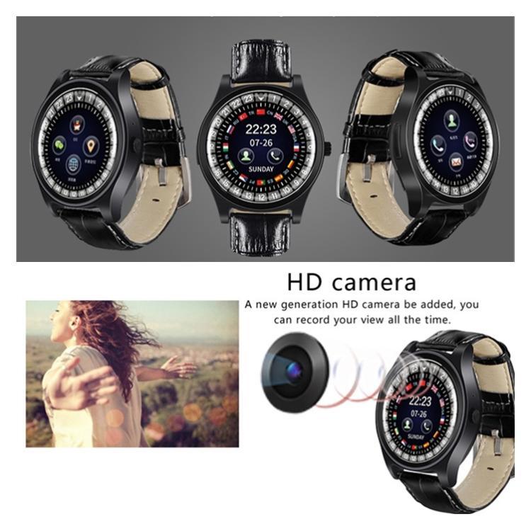 새로운 구형 터치 스크린 스마트 시계 지원 건강 수면 모니터링 SIM 카드 HD 카메라 시계 방수 피트니스 트래커 스포츠 팔찌