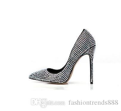 Embroidered Crystals High Heels Women Shoes Kim Kardashian Style Bridal Wedding Shoes Sexy Pointed Toe Women Pumps