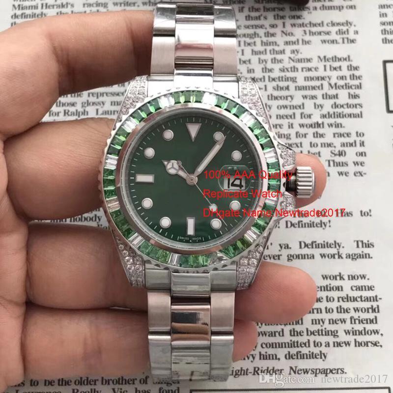 السويسرية العلامة التجارية رجالي ساعات التلقائي الساعات الفاخرة 40 مم الماس السيراميك الحافة الفولاذ المقاوم للصدأ عالية الجودة الياقوت مرآة ساعة اليد الغواص