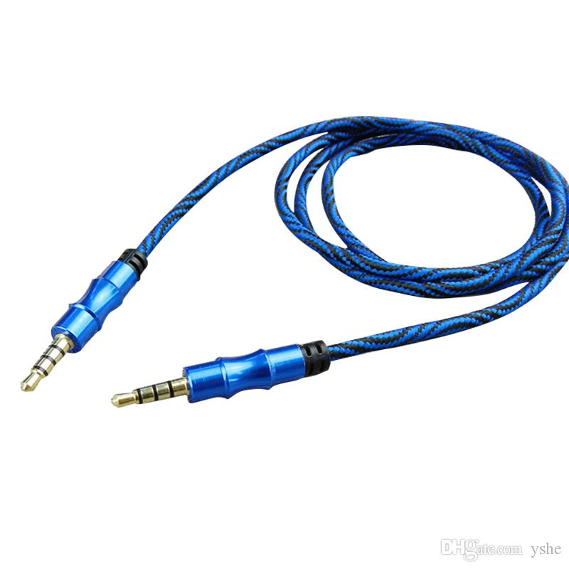 10PCS 3.5 mm Audio Cable Male To Male Stereo Car AUX Cable For Phone Extension Line MP3 MP4 Headphone Speaker Cord