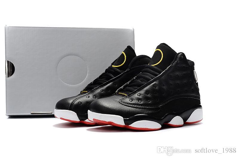 Großhandel 2018 Nike Air Jordan 13 Retro 13s OG Black Cat Basketball Schuhe 3 Mt Reflektieren Für Männer Sport Training Turnschuhe Hohe Qualität