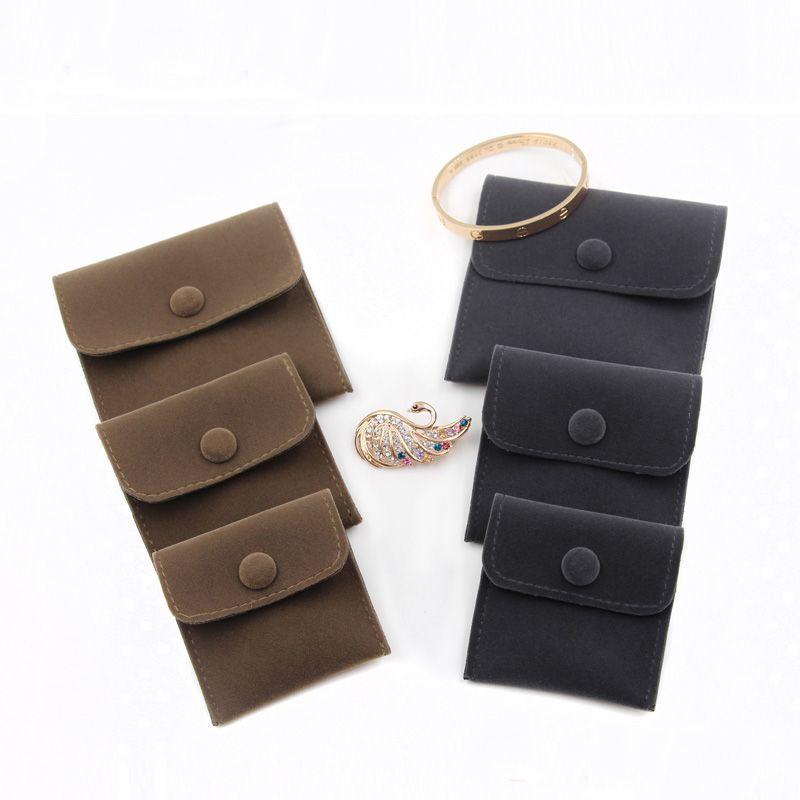 Velvet Jewelry Geschenkverpackungs-Beutel-kleiner quadratischer Umschlag-Beutel mit Druckknopf-Staub-Beweis-Schmuck-Aufbewahrungsbeutel