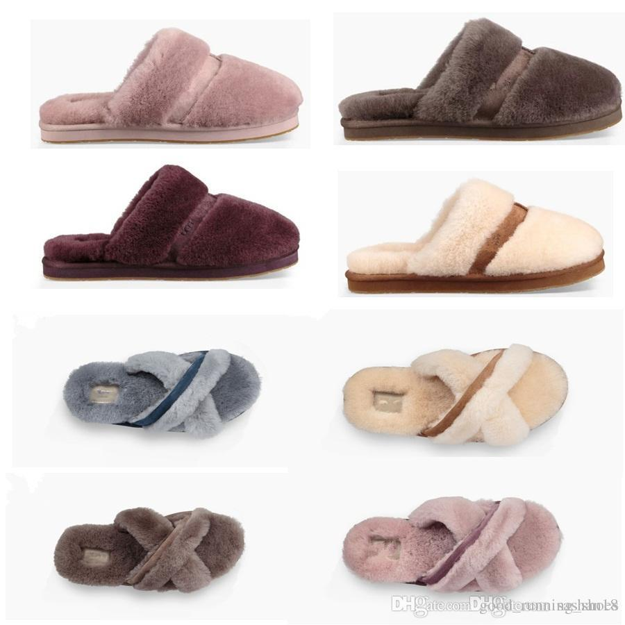 2018 autumn and winter new women's shoes indoor slippers comfortable flat shoes bedroom silent slippers warm slippers