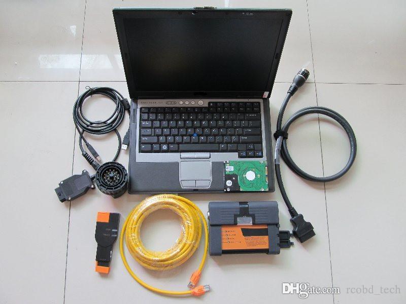 Pour BMW ICOM a2 b c avec des outils de diagnostic les plus récentes mode expert hdd 500gb ista avec d630 portable ram portable 4g