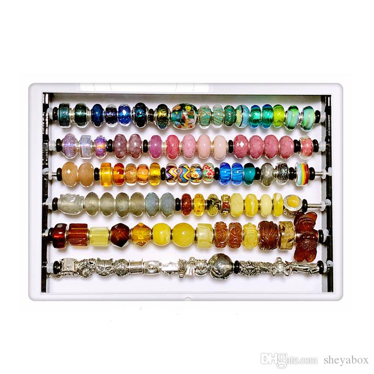 Supply Jewelry Tray for Displaying Charms and Jewelry Use for Beads and Other Small Gems Little Plastic Containers With Lids in Tray.